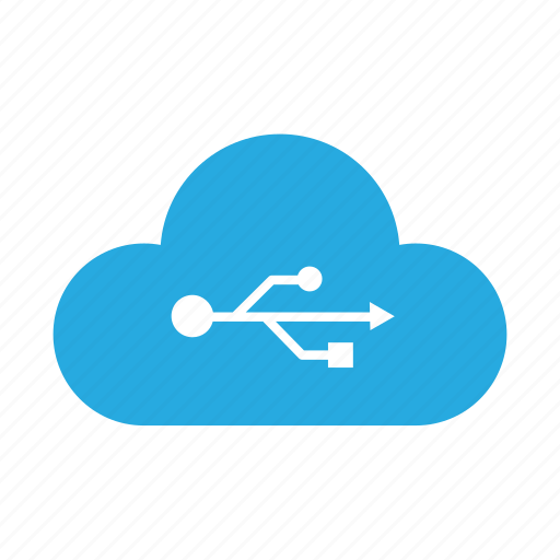 cloud, connect, external drive, removable, sky drive, storage, usb icon