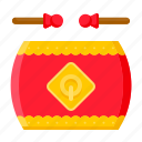 chinese, chinese new year, culture, drum, festival, instrument, percussion icon