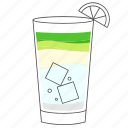 alcohol, beverage, cocktail, drink, mojito icon