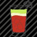 alcohol, beverage, cocktail, cuba, drink, libre icon