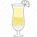 alcohol, beverage, cocktail, colada, drink, pina icon