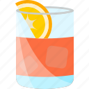 coctails, drink, fruit, orange icon