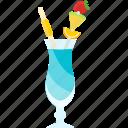 coctails, drink, frash, tubular icon