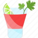 coctails, drink, greenery, lemon icon
