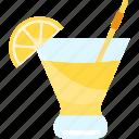 coctails, fruit, lemon, tubular icon
