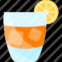 coctails, fruit, ice, lemon icon