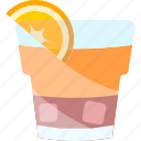 coctails, drink, glass, orange icon