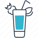 cocktail, island, long