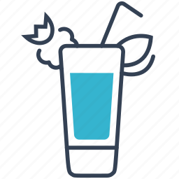 cocktail, island, long icon
