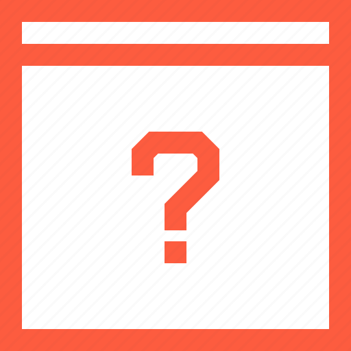 ask, browser, faq, question, secret, window icon