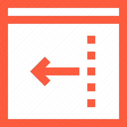arrow, back, browser, input, left, previous, window icon