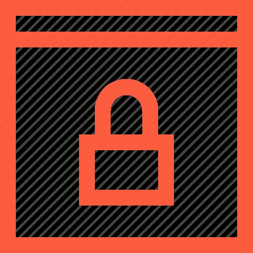 browser, lock, lockpad, pad, password, security, window icon