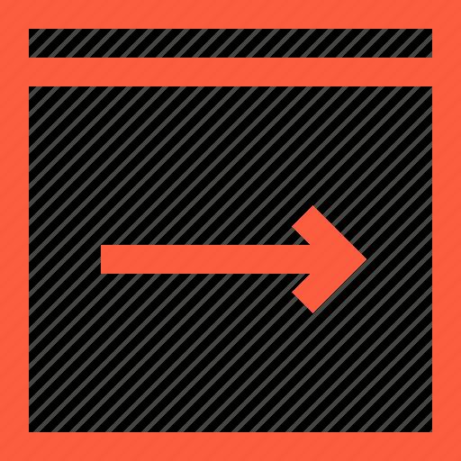 arrow, browser, forward, next, pointer, window icon
