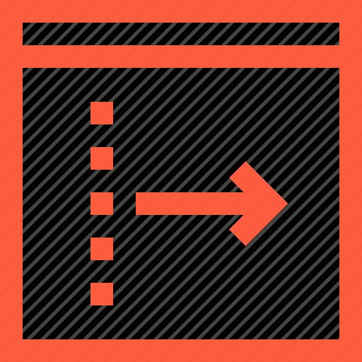 arrow, browser, forward, next, output, right, window icon