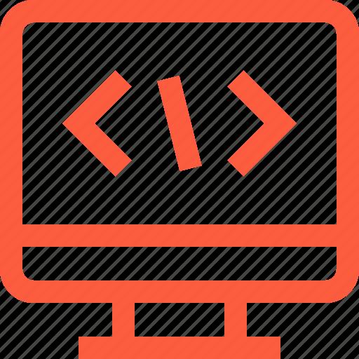 code, coding, command, programming, script, terminal, tool icon
