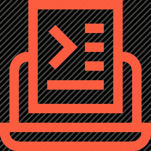 code, coding, command, commander, laptop, programming icon