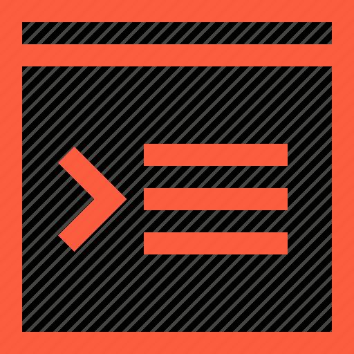 coding, command, interface, programming, script, window icon