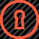 form, hole, key, keyhole, lock, round, shape