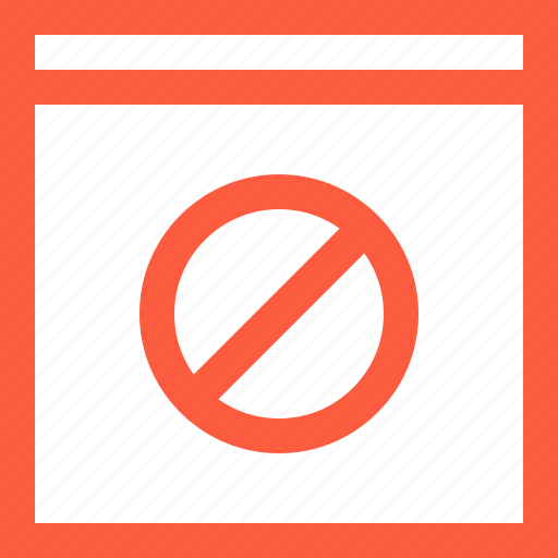banned, block, disabled, forbidden, page, prohibited, window icon