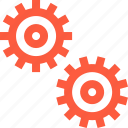 cogs, extentions, mechanism, options, preferences, settings icon