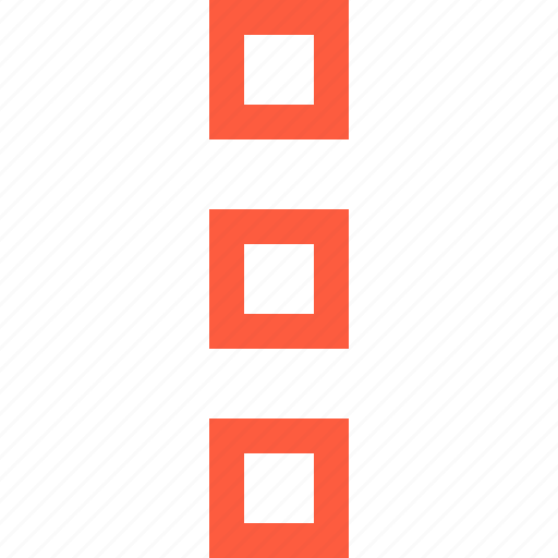 blocks, list, pattern, square, structure, vertical icon