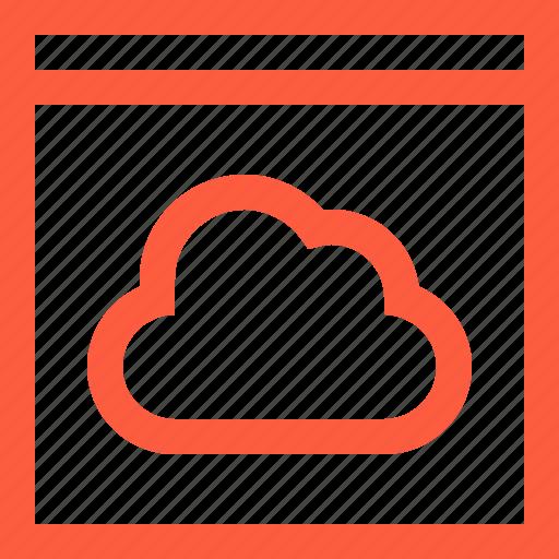 cloud, data, network, server, storage, window icon