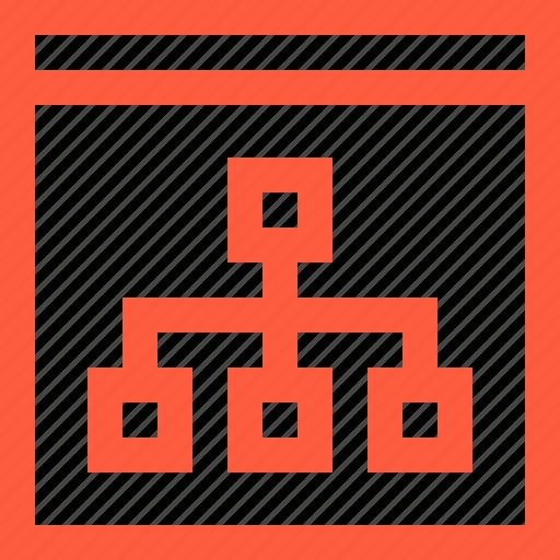 algorithm, blocks, nodes, scheme, structure, window icon