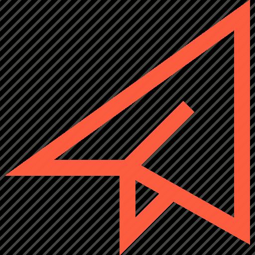 letter, mail, message, paper, plane, send icon