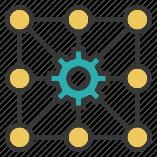 algorithm, calculate, gear, problem, solving icon