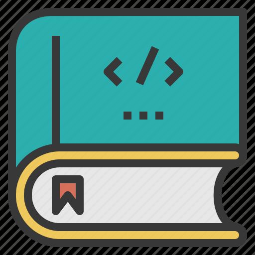 book, coding, computer, design, program icon