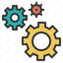 configuration, gears, hardware, setup, softwear icon