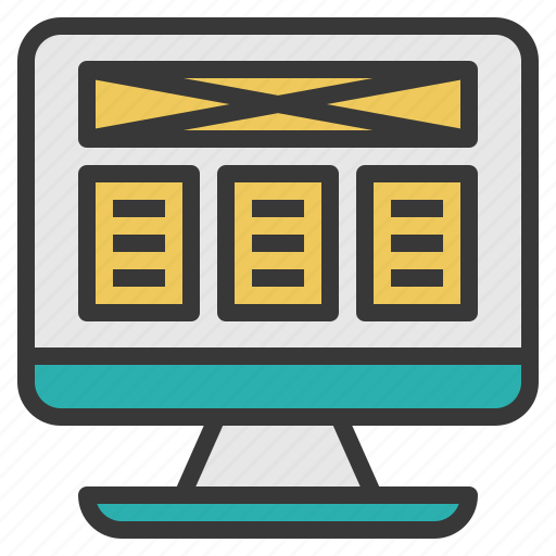 Computer, developer, end, front, screen, wesite icon - Download on Iconfinder
