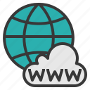 cloud, global, internet, network, www icon