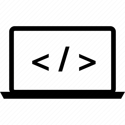 code, coding, laptop, programming icon