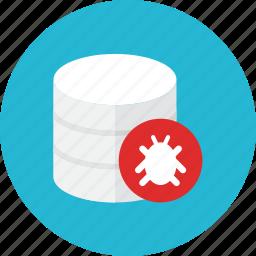 bug, database icon