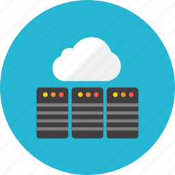 cloud, database, servers icon