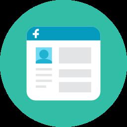facebook, interface icon