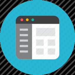 website, windows icon