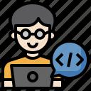 developer, professions, laptop, programmer, code