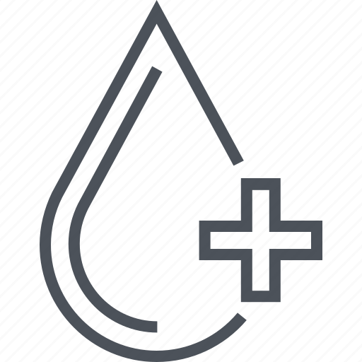 blood, heath, medicine, serum, water icon
