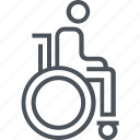 wheel chair, wheels icon