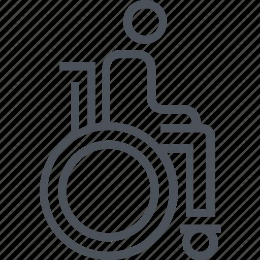 wheel chair, wheels icon