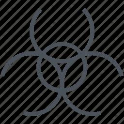 bio, dangerous, hazard icon