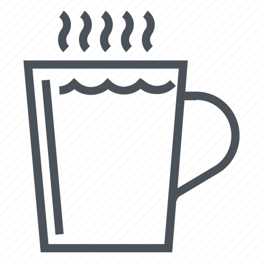 coffee, cup, glass, hot drink icon