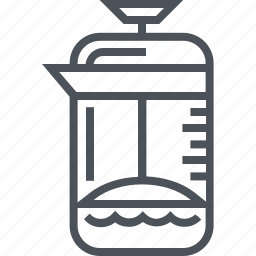 coffee, french press, hot drink icon