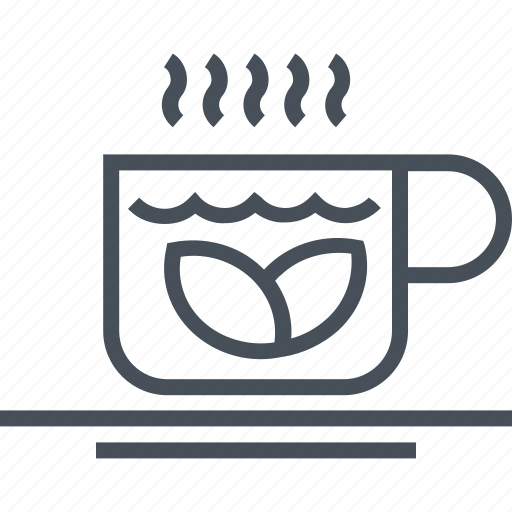 herbal, herbal tea, hot drink, leaf, tea, vegetable icon