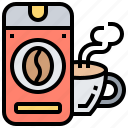 bottle, coffee, cup, drink, hot icon