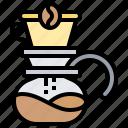 barista, brewing, coffee, dripper, jug icon