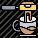 barista, brewing, espresso, machine, portafilter icon