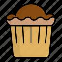 coffe, cupcake, cake, fod